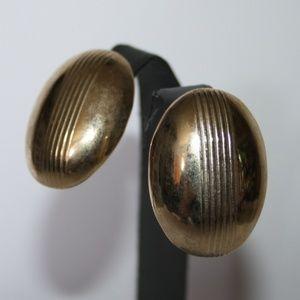 Beautiful vintage chunky gold earrings